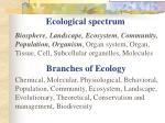 ecological spectrum
