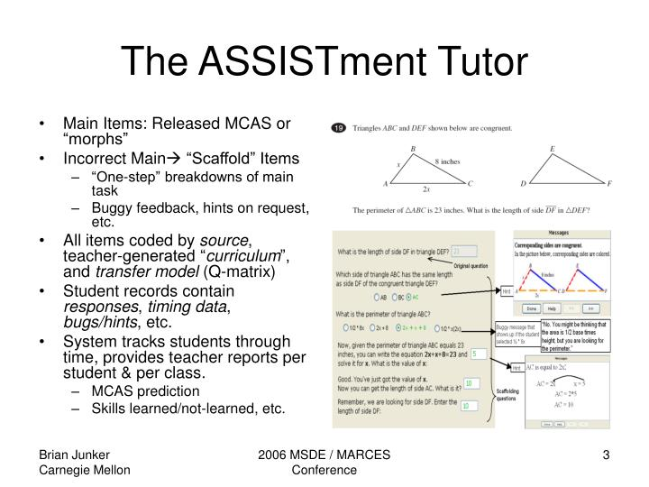 The assistment tutor