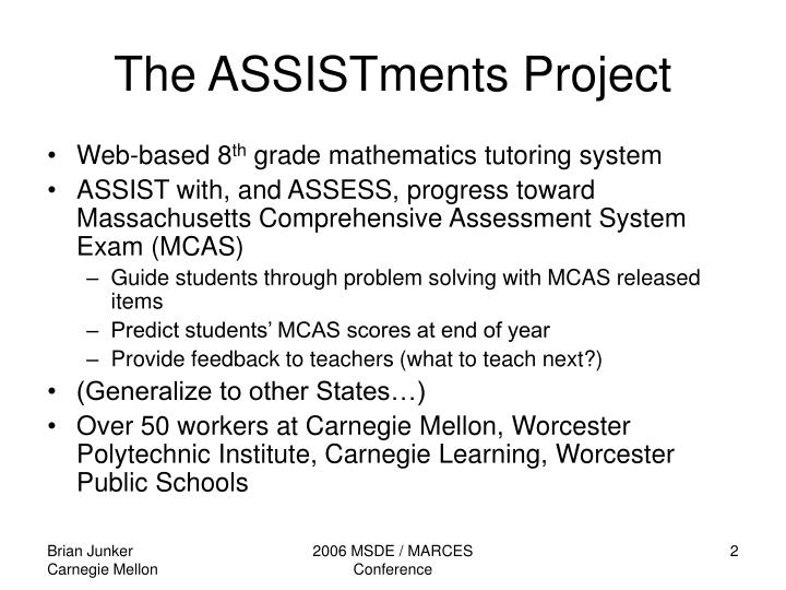 The assistments project