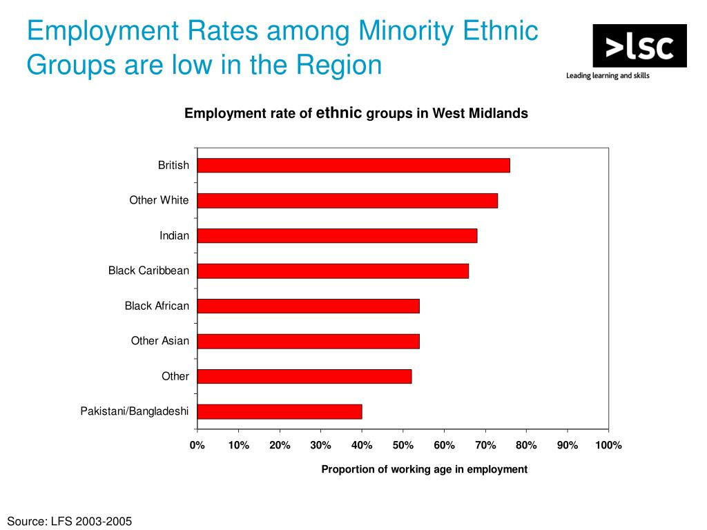 Employment Rates among Minority Ethnic