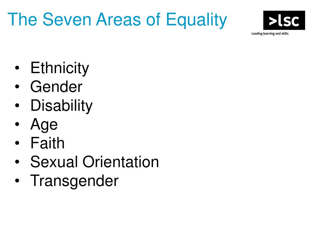 The Seven Areas of Equality
