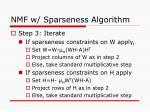 nmf w sparseness algorithm
