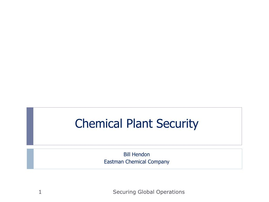 PPT - Chemical Plant Security PowerPoint Presentation - ID:381986