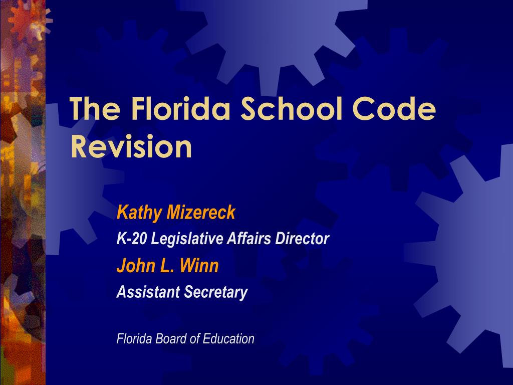 the florida school code revision