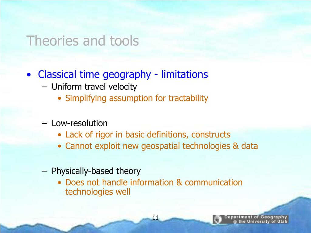 Theories and tools