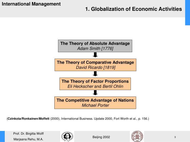 1. Globalization of Economic Activities