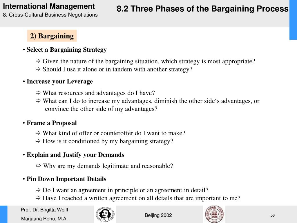 Select a Bargaining Strategy