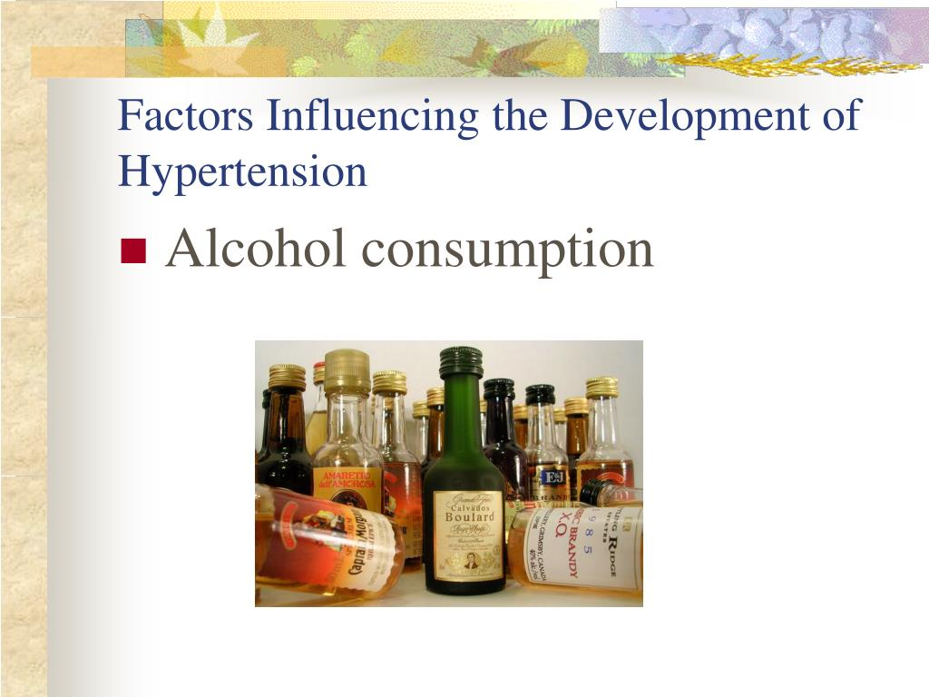 Factors Influencing the Development of Hypertension