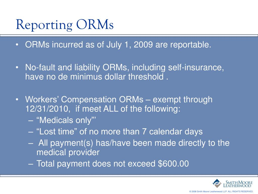 Reporting ORMs