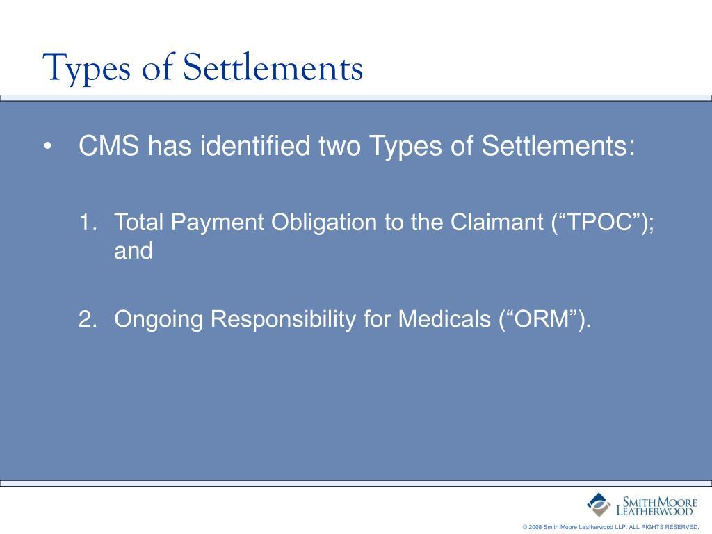 Types of Settlements