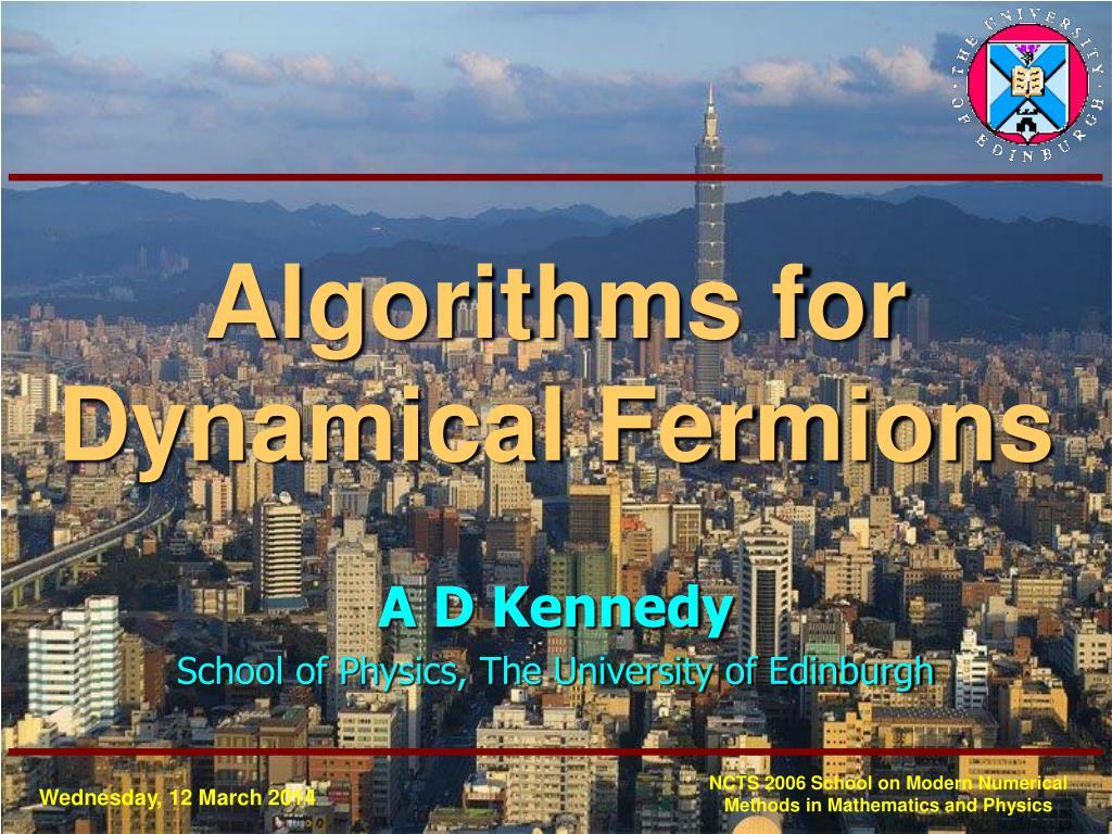 algorithms for dynamical fermions l.
