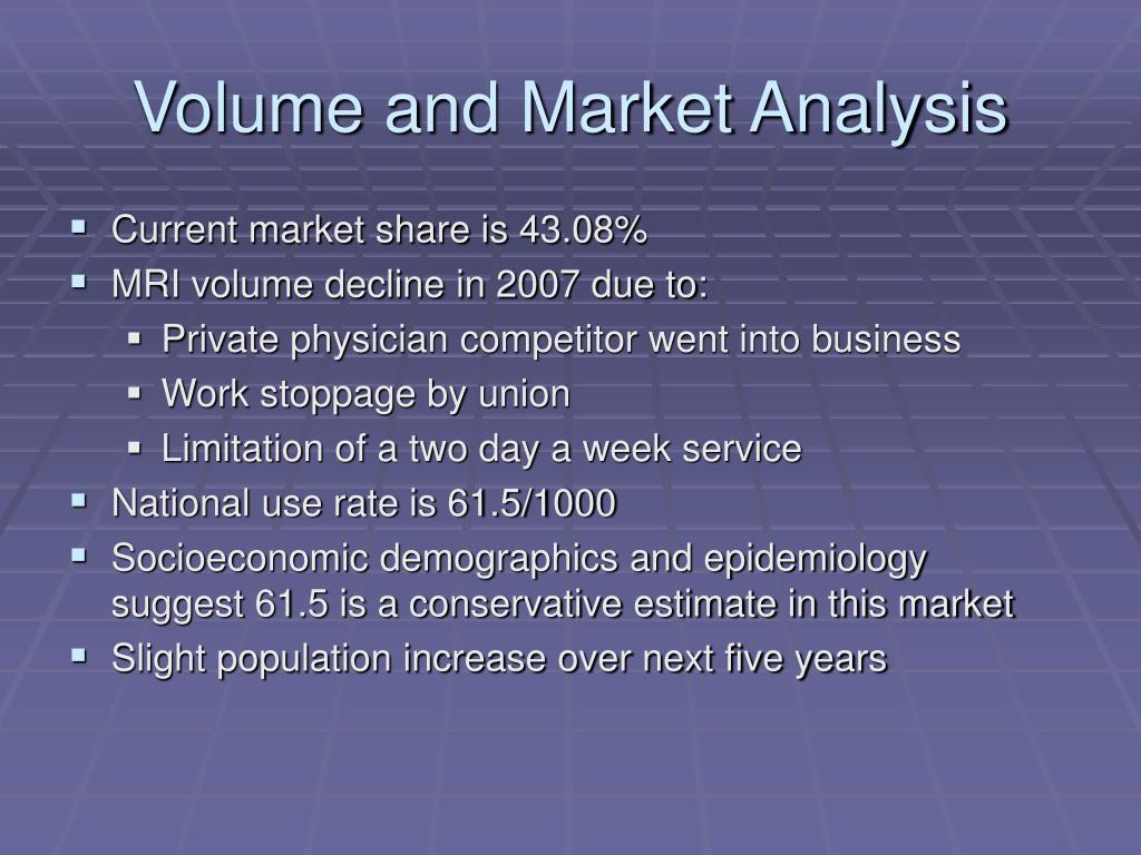 Volume and Market Analysis