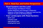 part 4 road sys and further perspectives