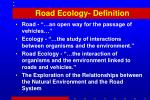 road ecology definition
