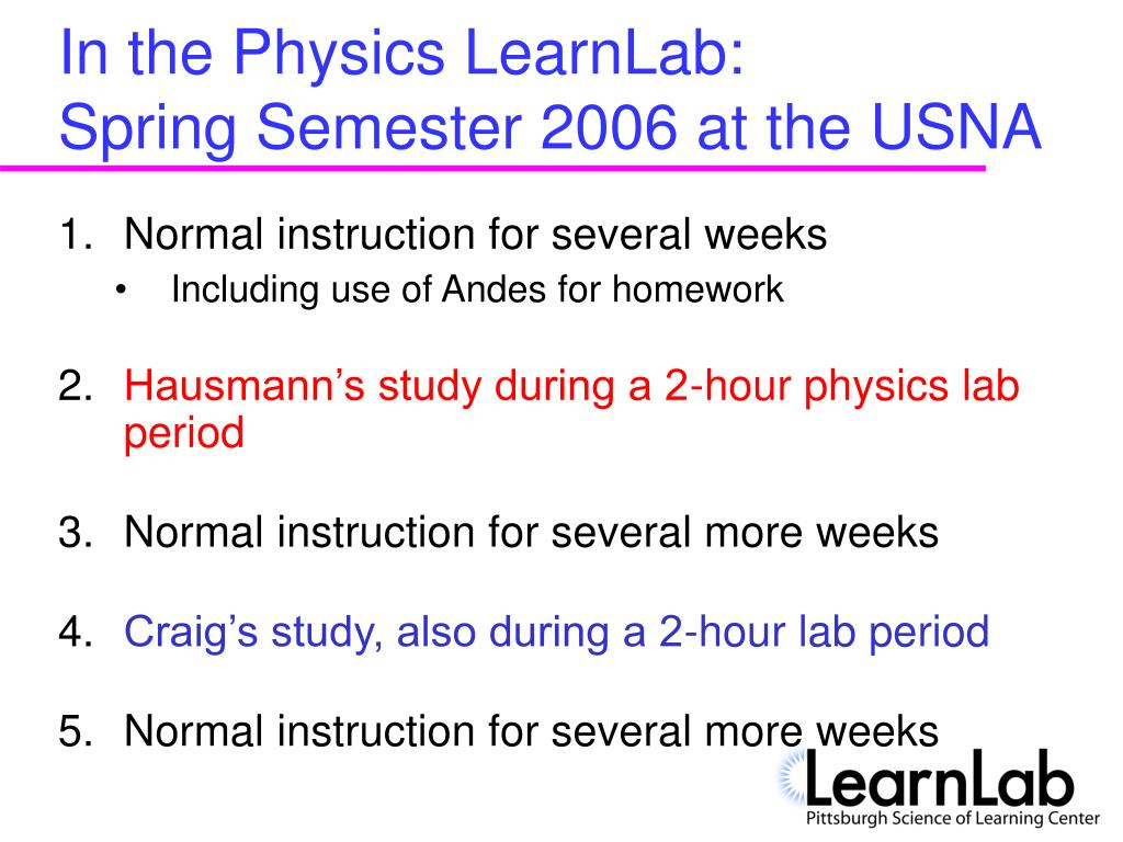 In the Physics LearnLab: