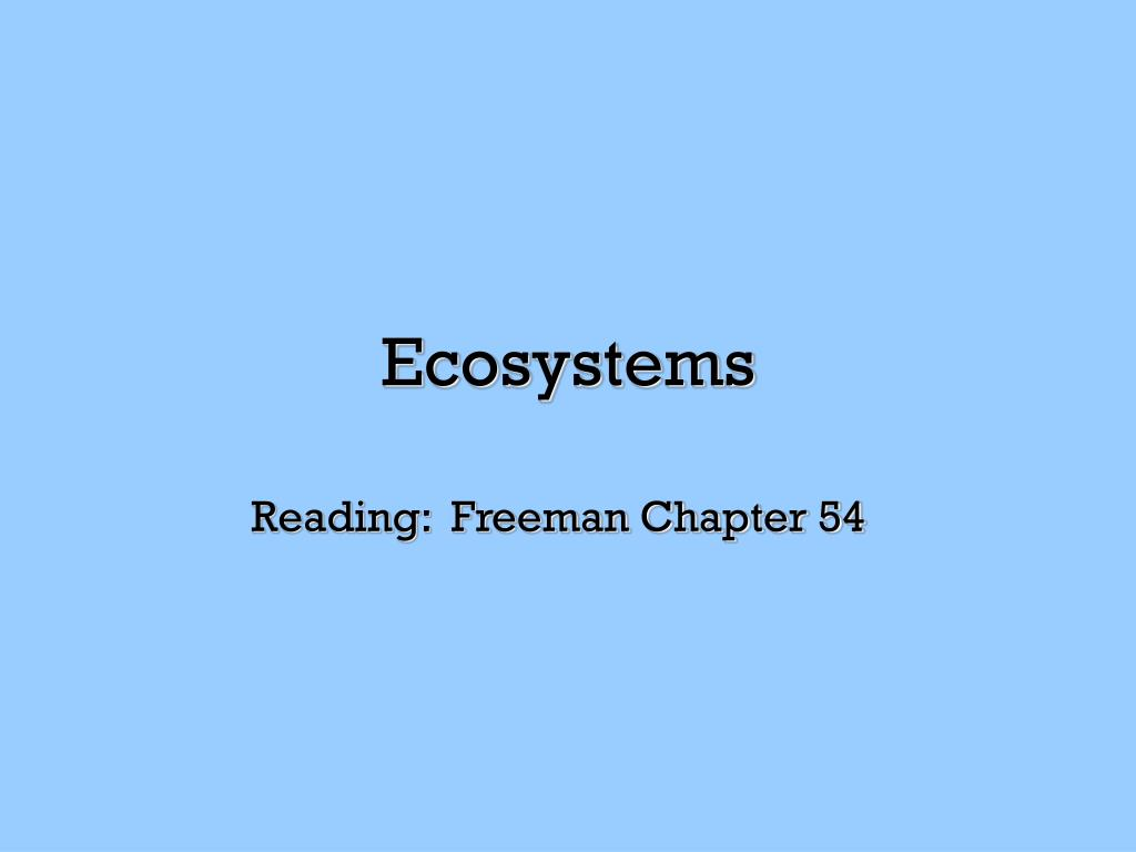 ecosystems l.