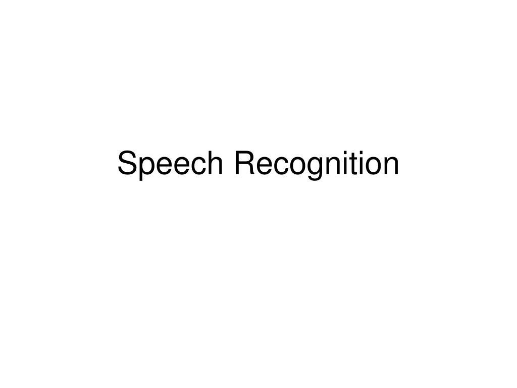 speech recognition l.