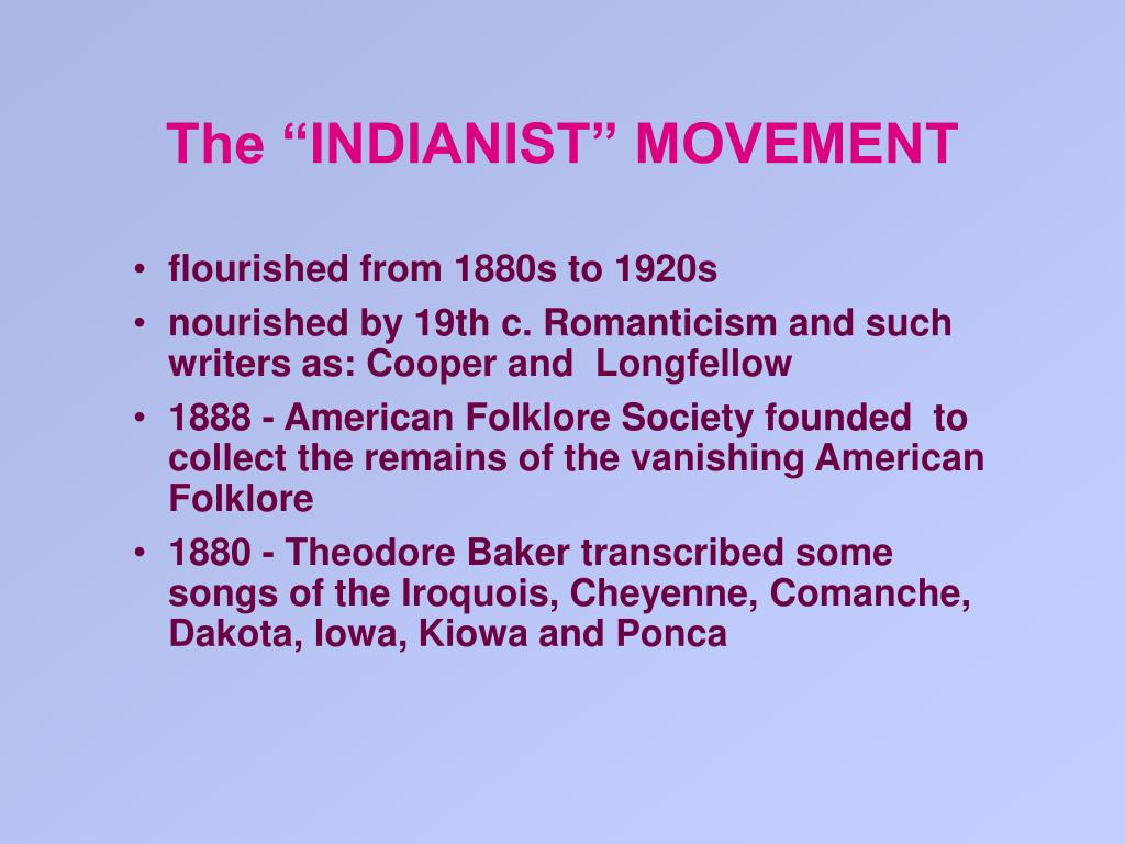 """The """"INDIANIST"""" MOVEMENT"""