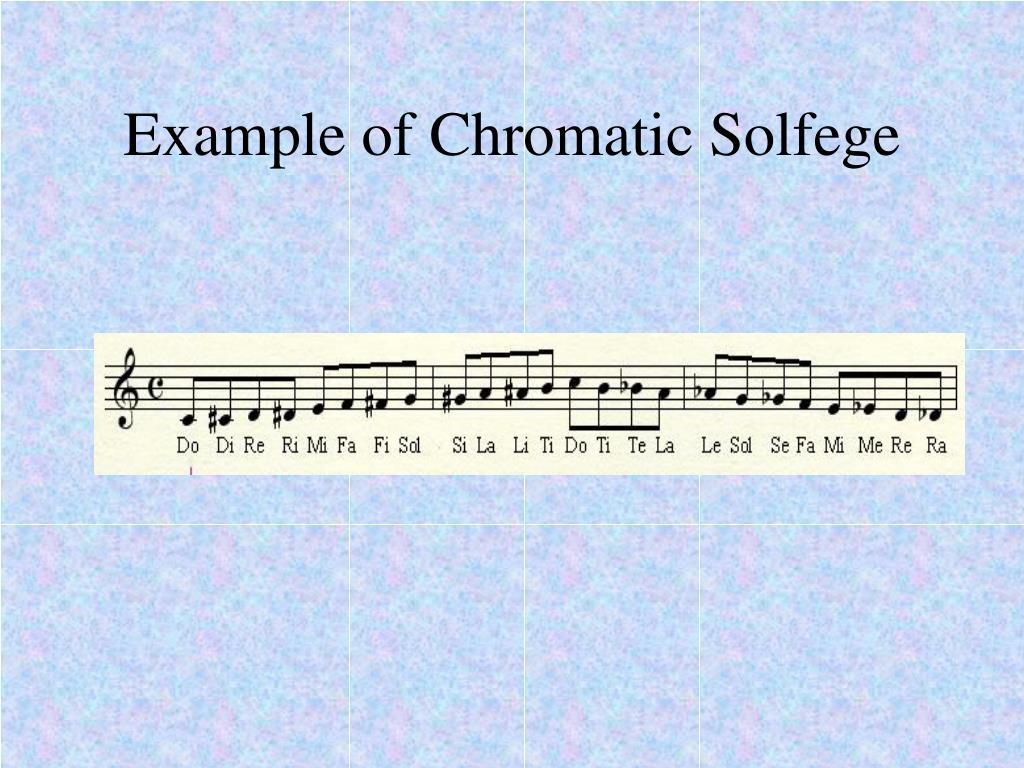 Example of Chromatic Solfege