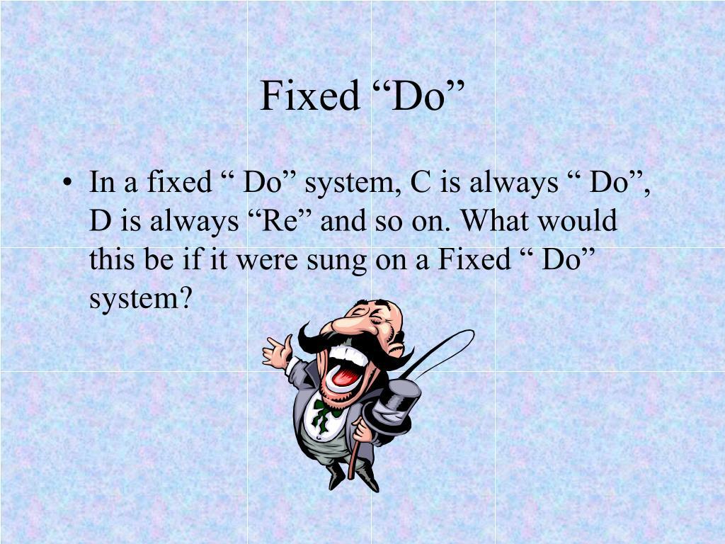 """Fixed """"Do"""""""