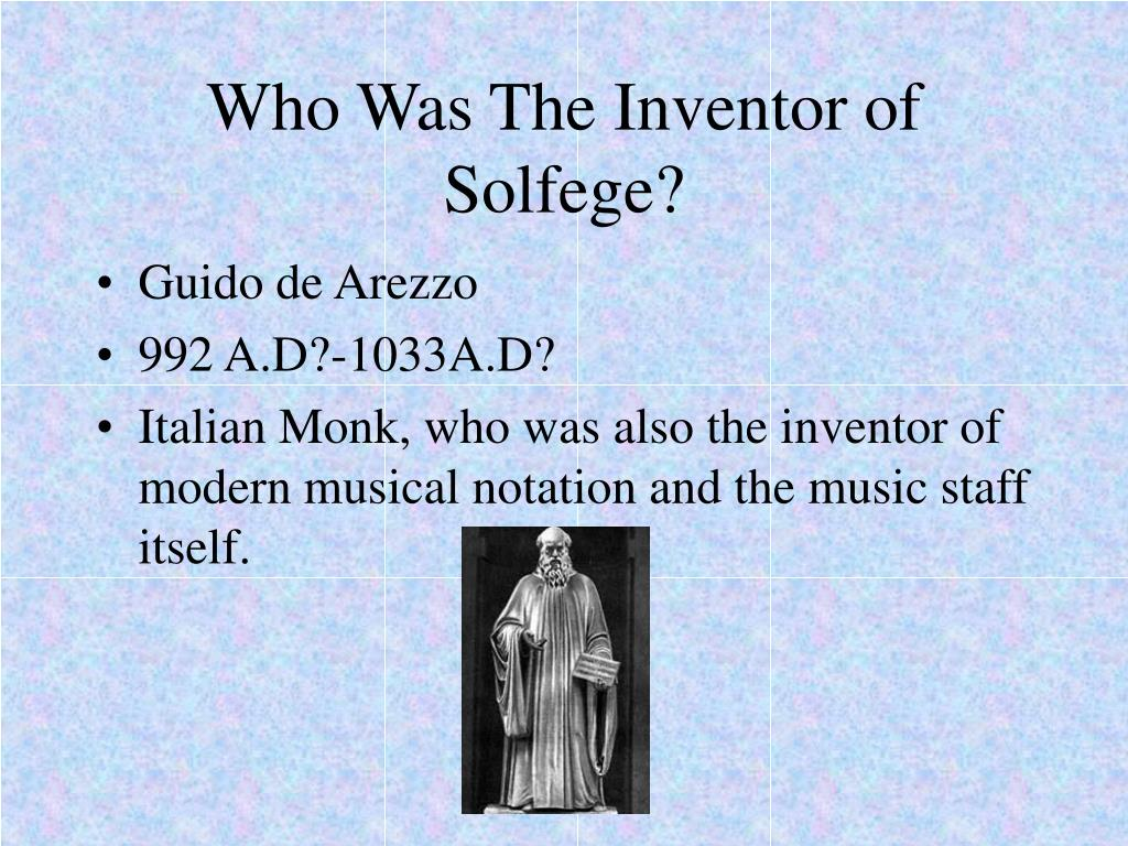 Who Was The Inventor of Solfege?