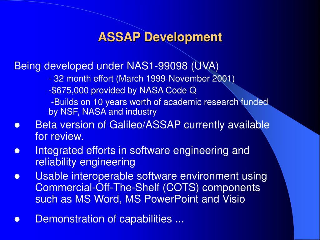 ASSAP Development