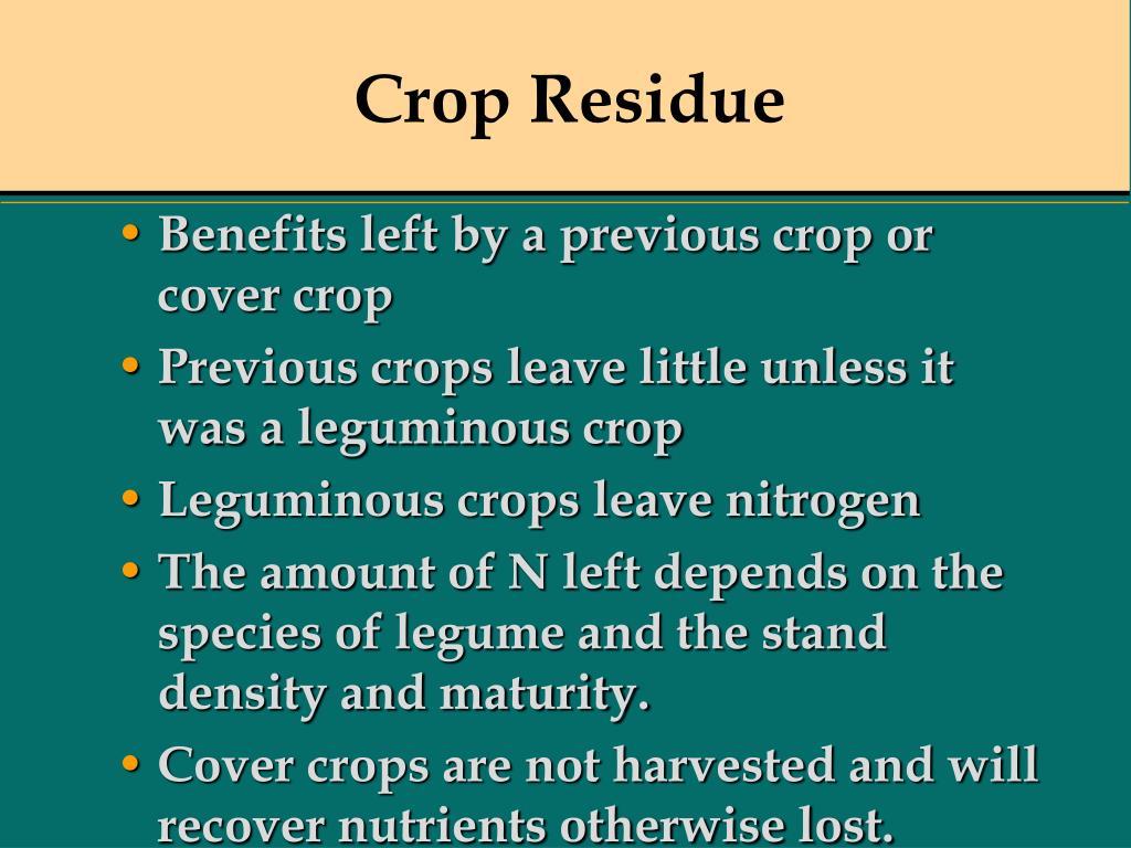 Crop Residue