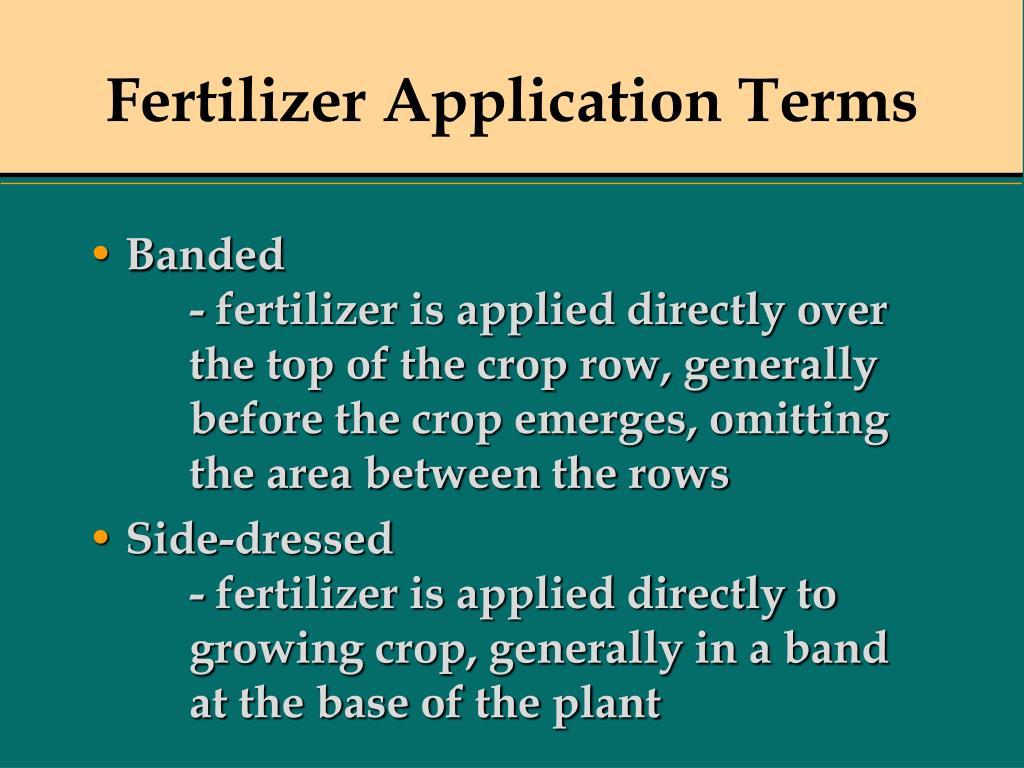 Fertilizer Application Terms