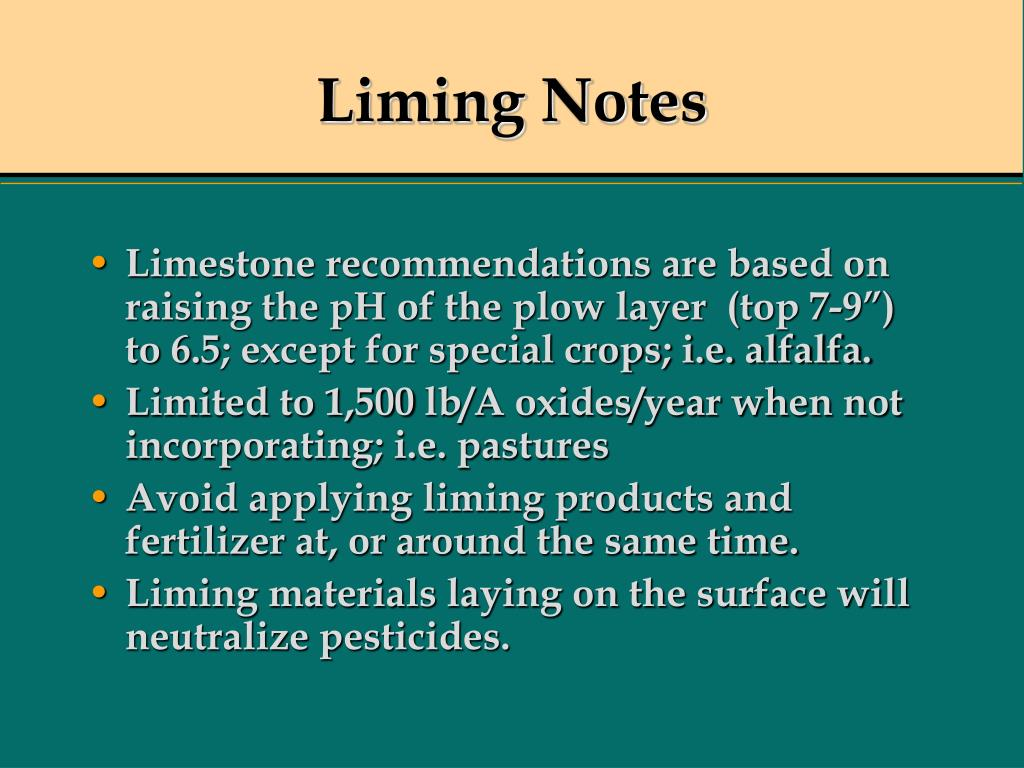 Liming Notes