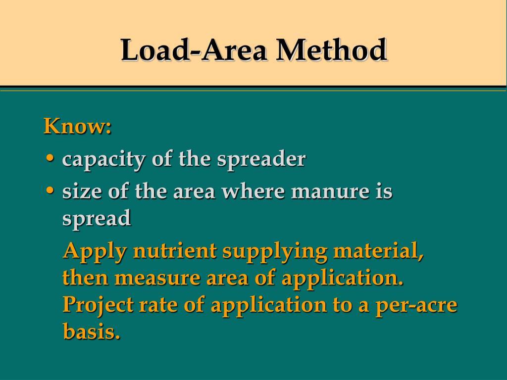 Load-Area Method