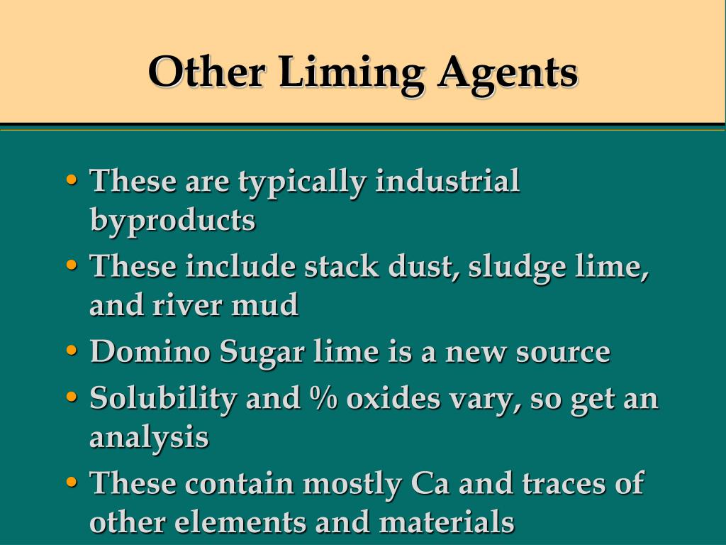 Other Liming Agents