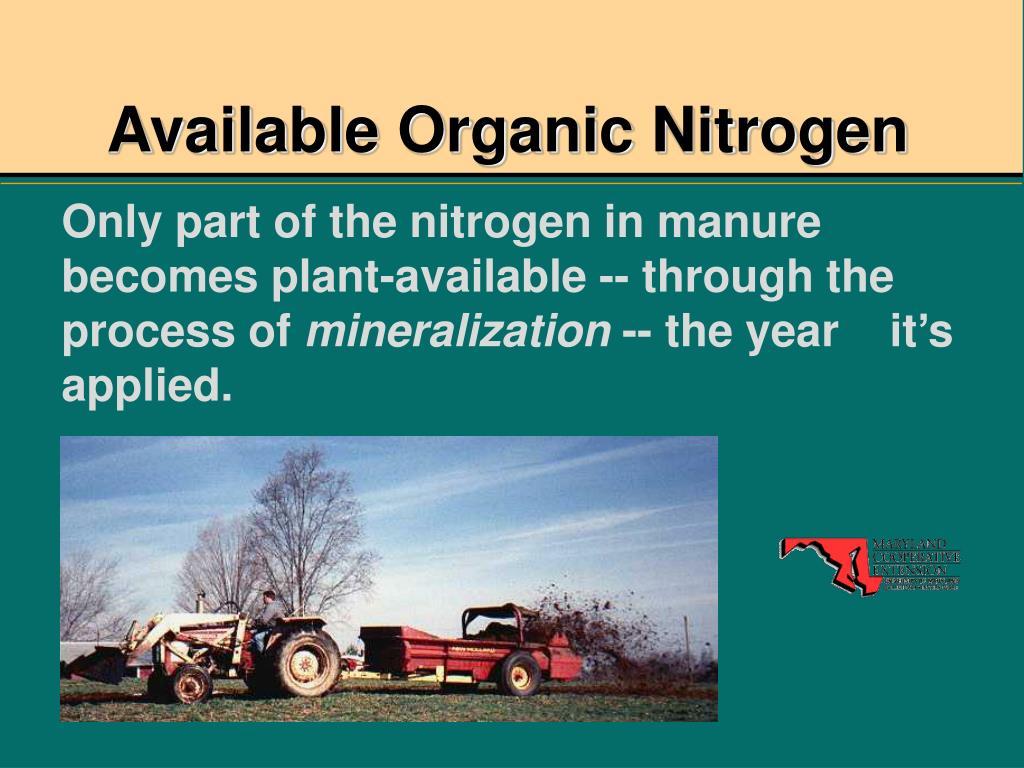 Available Organic Nitrogen