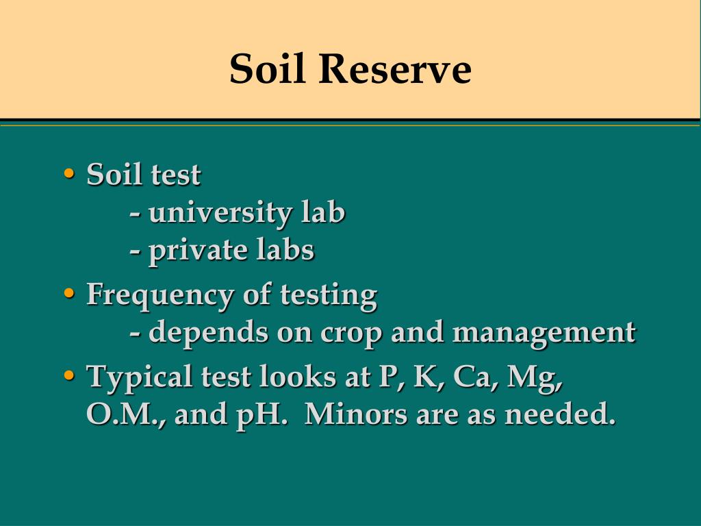 Soil Reserve