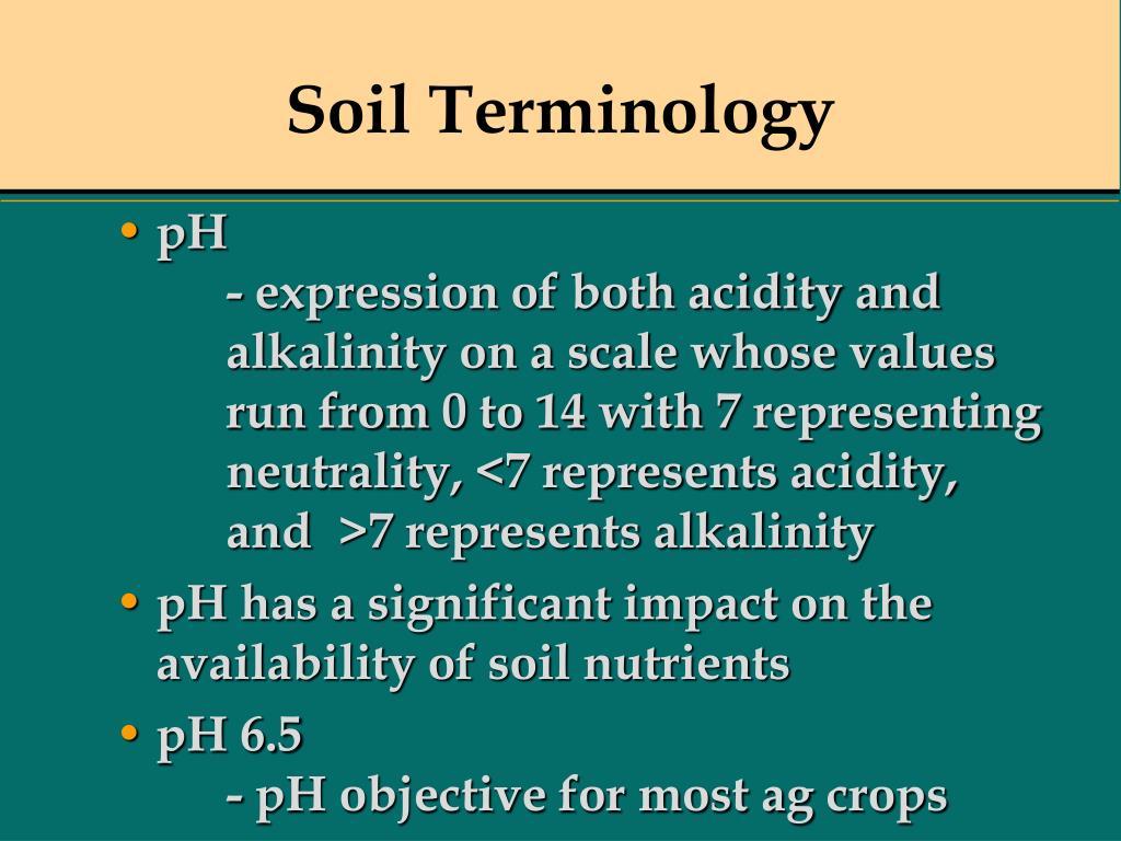 Soil Terminology