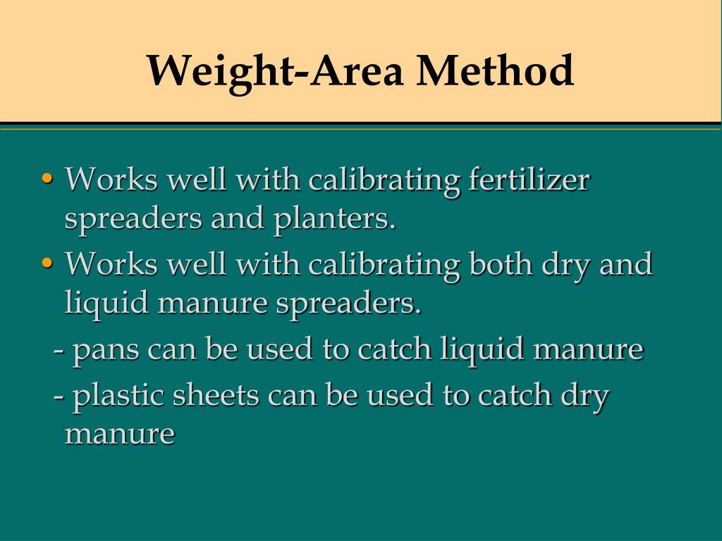 Weight-Area Method