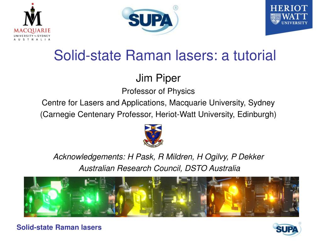 solid state raman lasers a tutorial l.