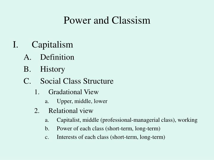 Power and classism