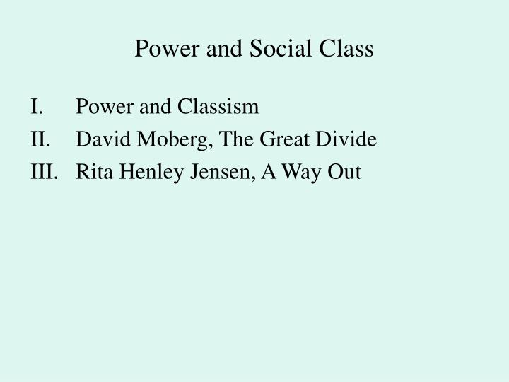 Power and social class