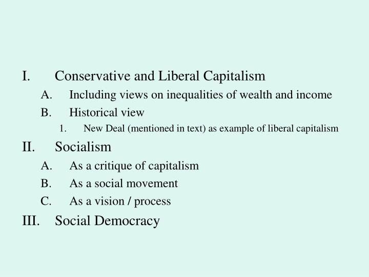 Conservative and Liberal Capitalism