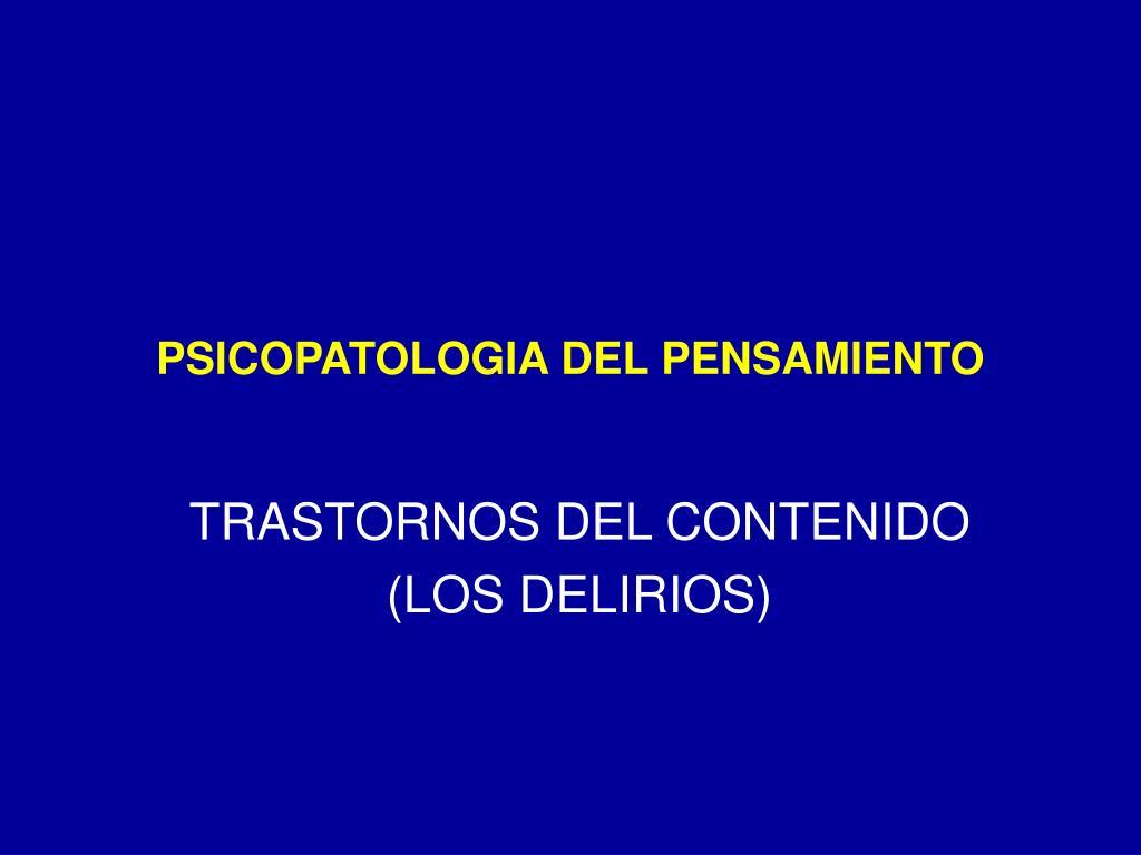 psicopatologia del pensamiento l.