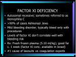 factor xi deficiency