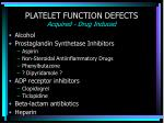 platelet function defects acquired drug induced