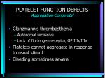 platelet function defects aggregation congenital
