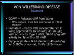 von willebrand disease treatment