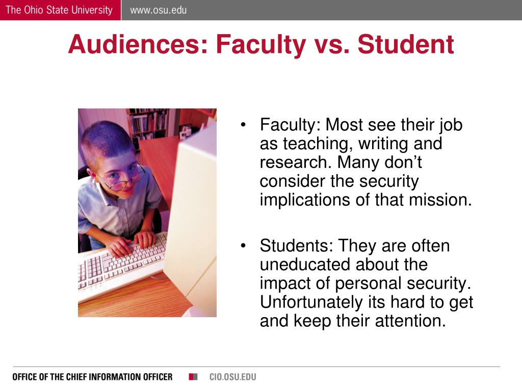 Audiences: Faculty vs. Student