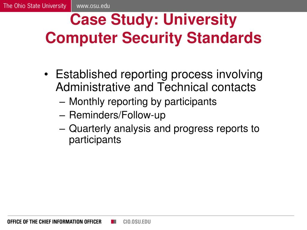 Case Study: University Computer Security Standards