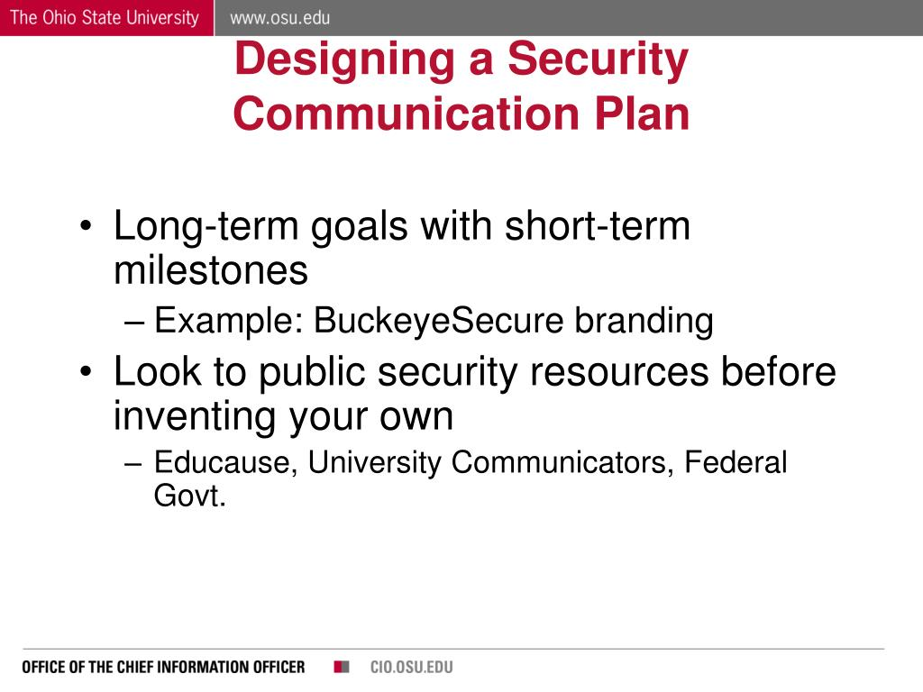 Designing a Security Communication Plan