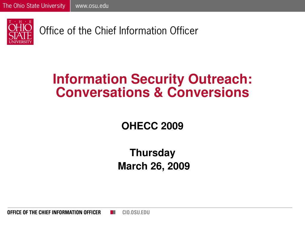 Information Security Outreach: