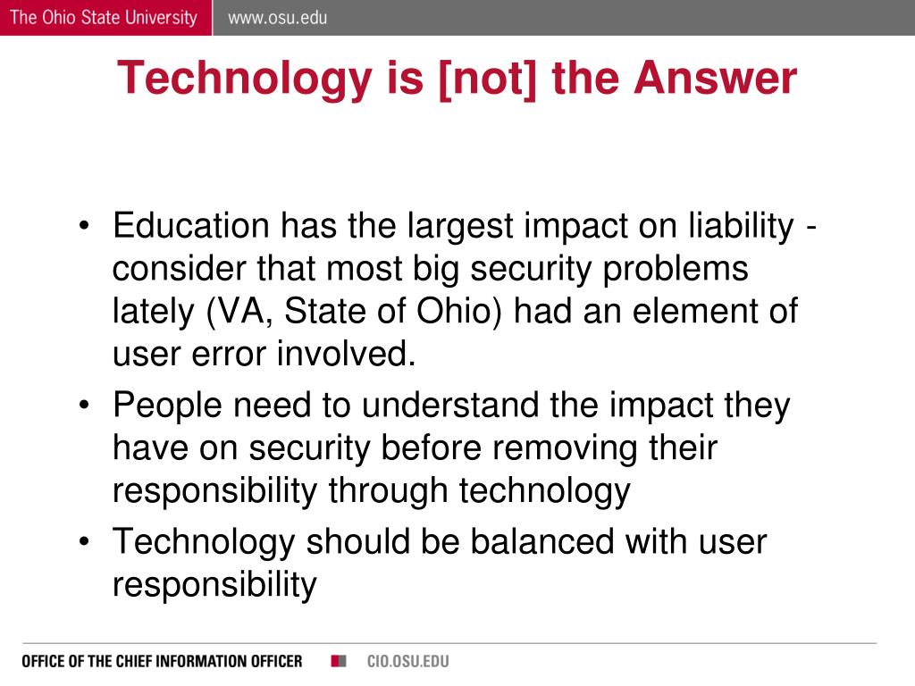 Technology is [not] the Answer