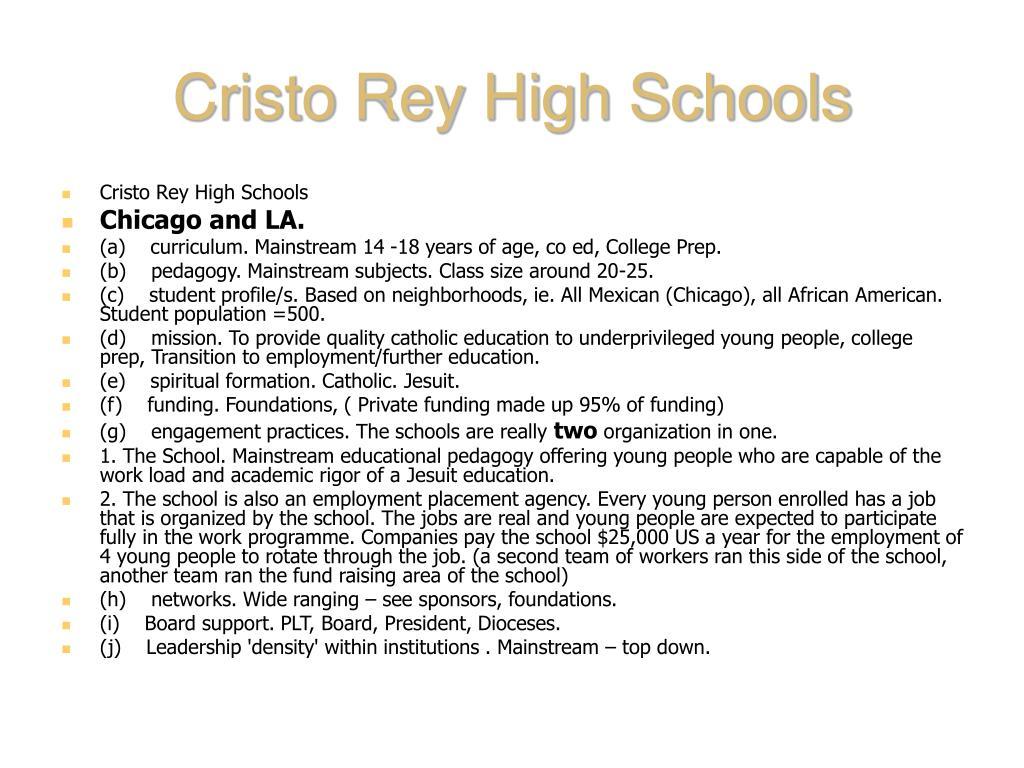 Cristo Rey High Schools